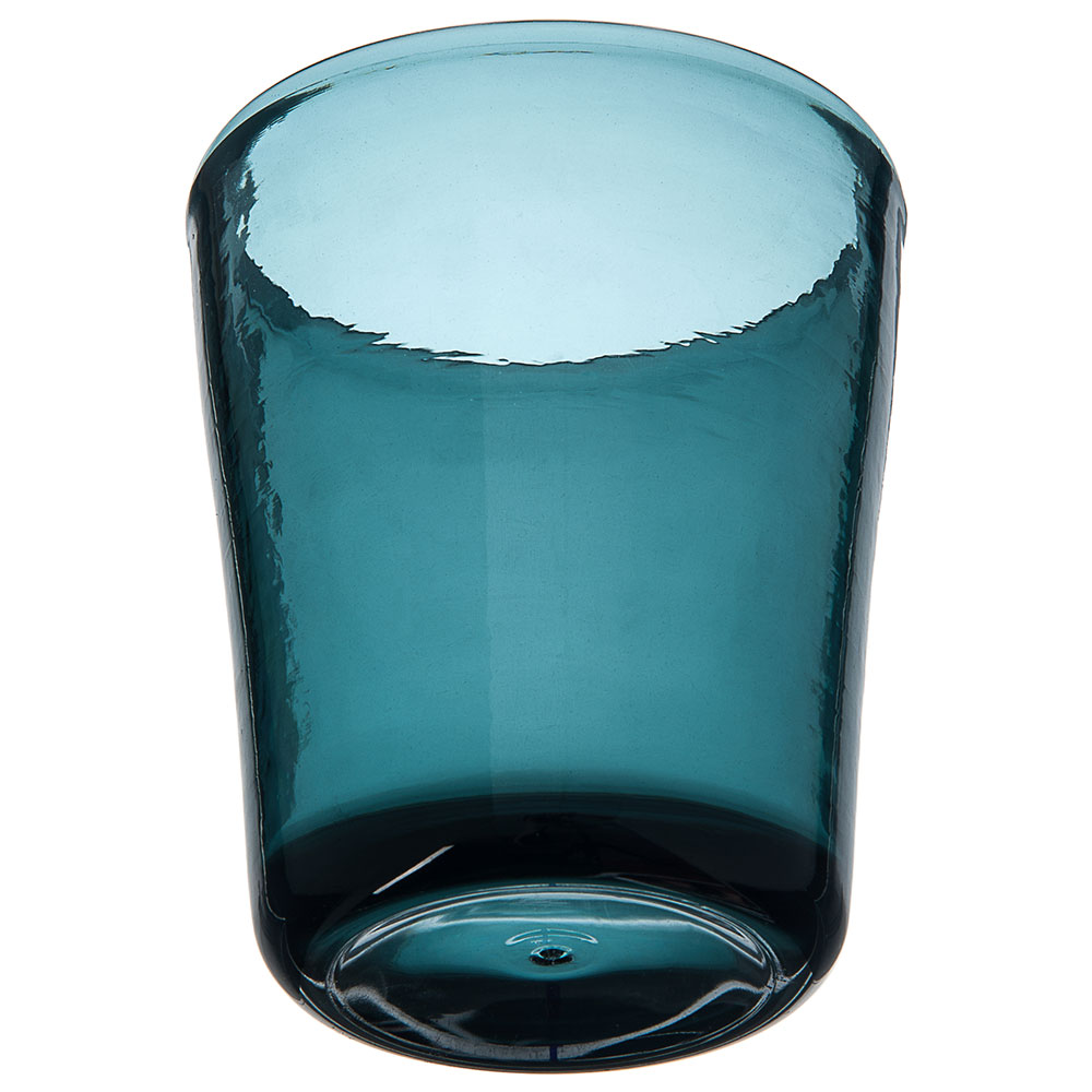 Carlisle MIN544015 14-oz Double Old Fashioned Glass - Plastic, Teal