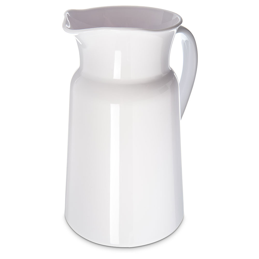 Carlisle MIN544502 3-qt Mingle Farmer's Pitcher - Tritan, White