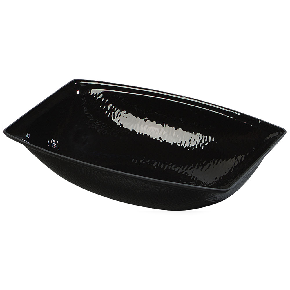 Carlisle OSB17603 11-qt Oval Bowl, Pebbled, Acrylic, Black