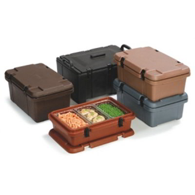 Carlisle PC140N01 Top Load Food Pan Carrier w/ 12-qt Capacity, Polyethylene, Brown