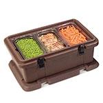 Carlisle PC140N01 Top Load Food Pan Carrier w/ 12-qt Capacity, Polyethylene, Brown
