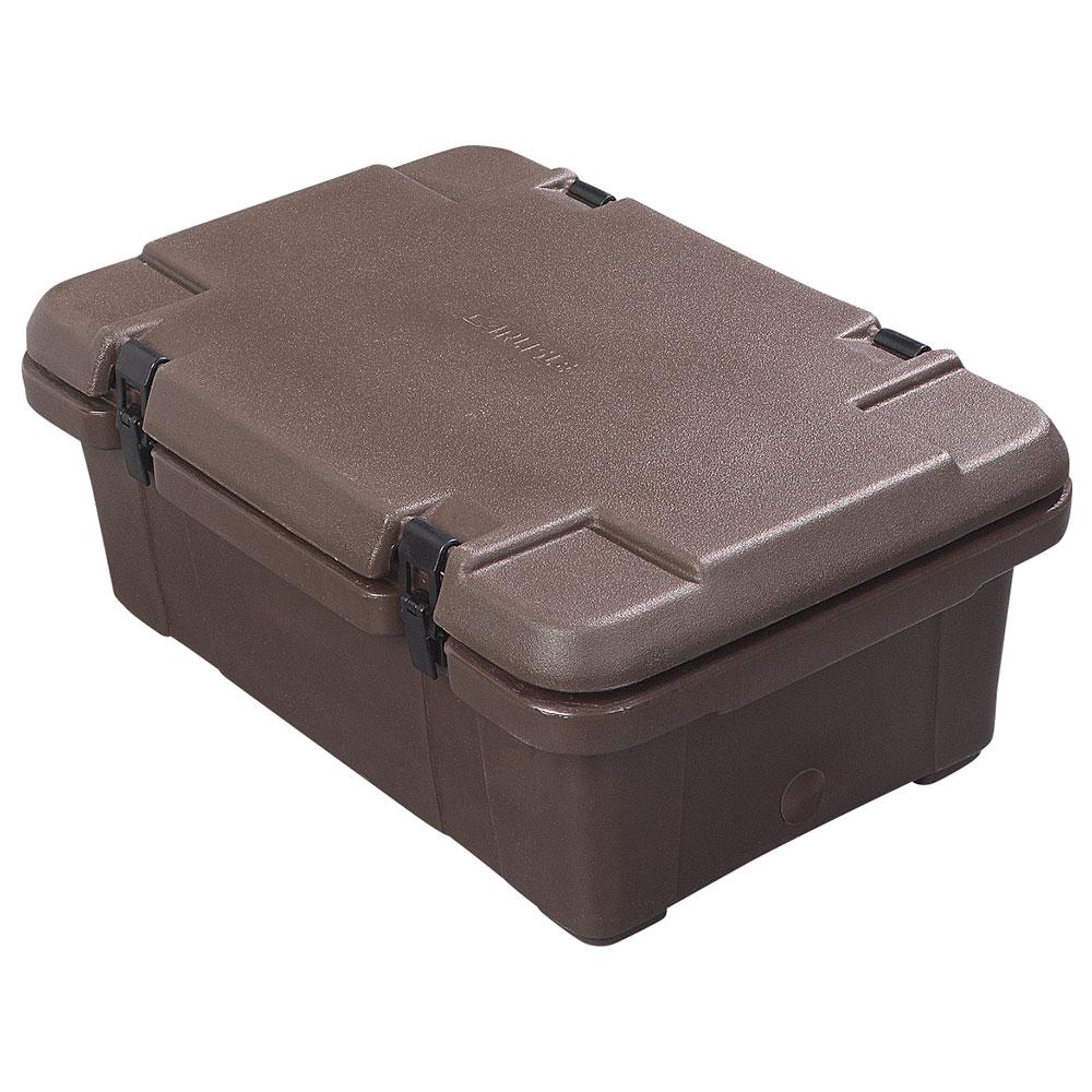 Carlisle PC160N01 Top Load Food Pan Carrier w/ 18-qt Capacity, Polyethylene, Brown