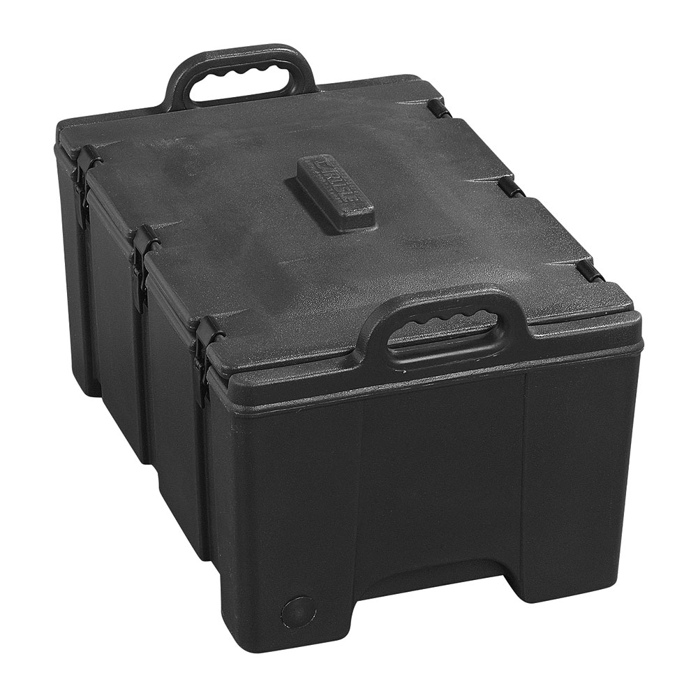 "Carlisle PC180N03 24-qt Insulated Food Carrier, Holds (2) 4"" D Pans, Black"