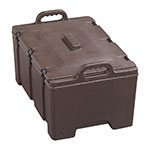 Carlisle PC180N01 24-qt Insulated Food Carrier, Holds (2) 4-in D Pans, Brown