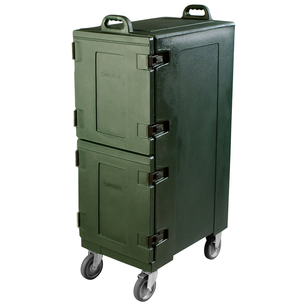 Carlisle PC600N08 Double End Load Food Carrier w/ 10-Pan Capacity, Polyethylene, Forest Green