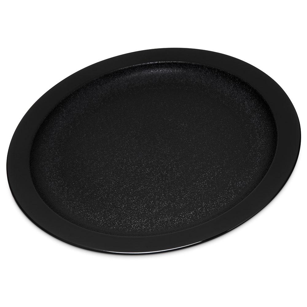 "Carlisle PCD20903 9"" Round Plate - Polycarbonate, Black"