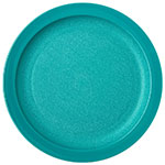"Carlisle PCD20915 9"" Round Plate - Polycarbonate, Teal"