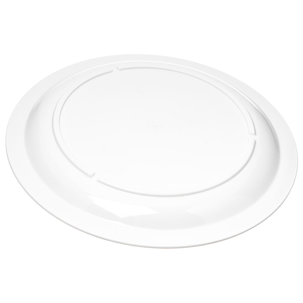 "Carlisle PCD21002 10"" Round Plate - Polycarbonate, White"