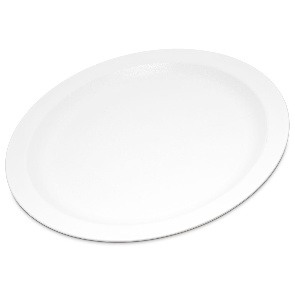 "Carlisle PCD21002 10"" Plate - Polycarbonate, White"