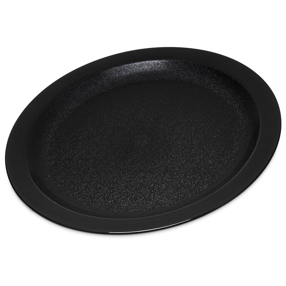 "Carlisle PCD21003 10"" Round Plate - Polycarbonate, Black"