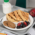 """Carlisle PCD22002 9"""" Round Plate w/ (3) Compartments, Polycarbonate, White"""