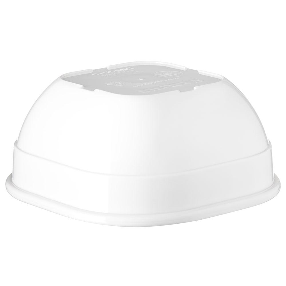 "Carlisle PCD31002 4"" Square Bowl w/ 10-oz Capacity, Polycarbonate, White"