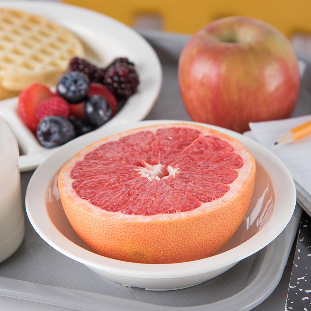 "Carlisle PCD31302 6"" Round Grapefruit Bowl w/ 10-oz Capacity, Polycarbonate, White"