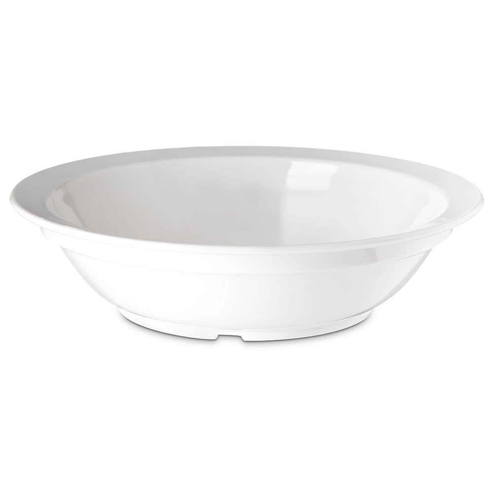 "Carlisle PCD31302 6"" Round Grapefruit Bowl w/ 10-oz Capacity, Polycarbonate, White"