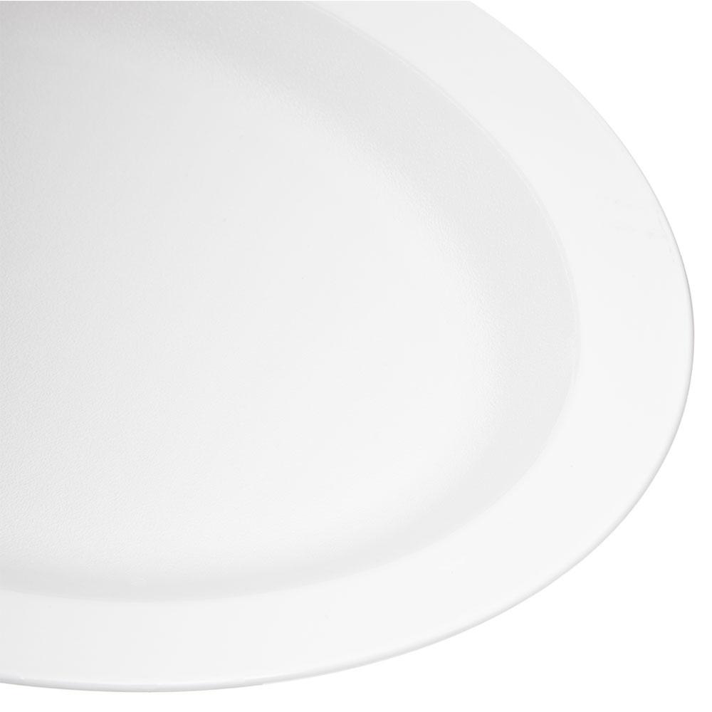 "Carlisle PCD41202 Oval Platter - 12"" x 9"", Polycarbonate, White"
