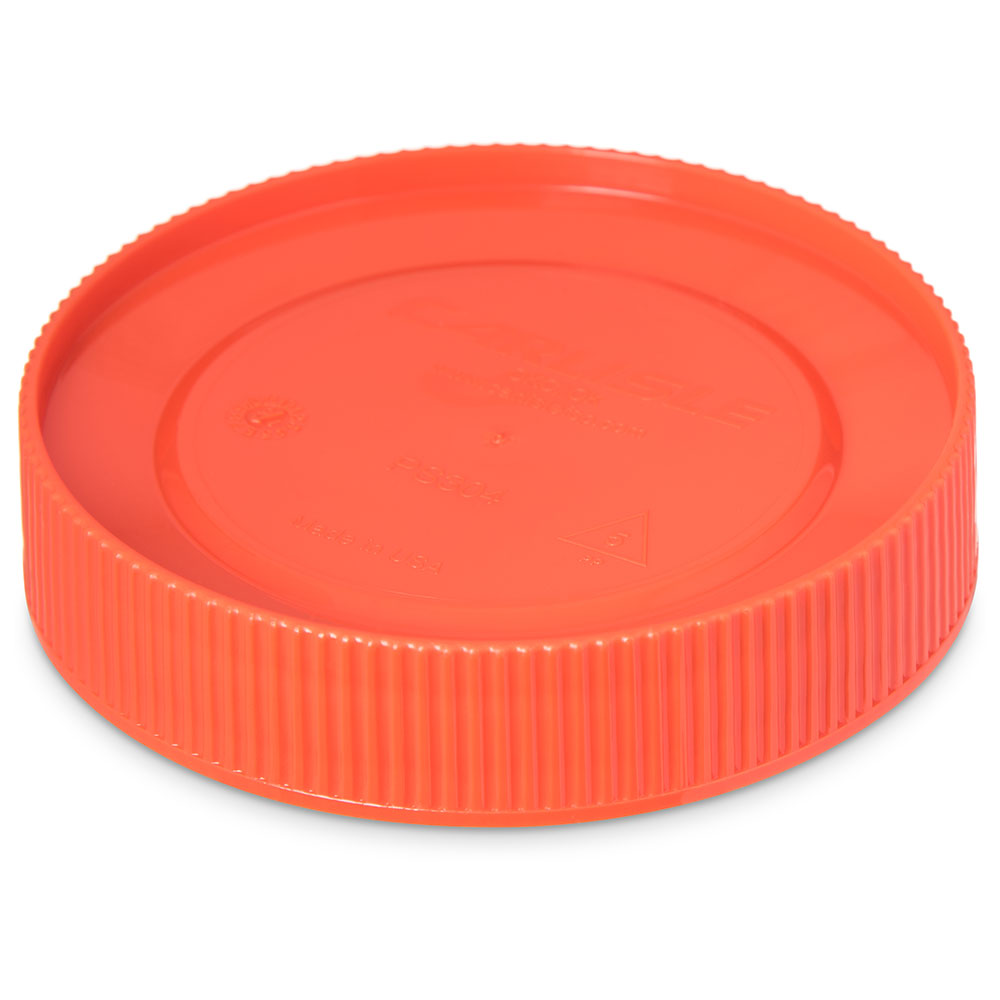 Carlisle PS30424 Store 'N Pour Cap - Polyethylene, Orange