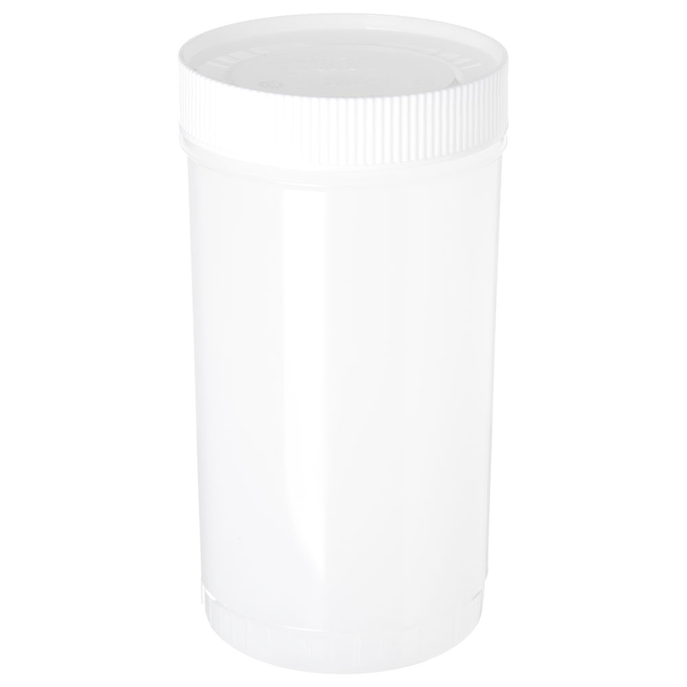 Carlisle PS601N02 32-oz Store 'N Pour Quart Complete - Polyethylene, White