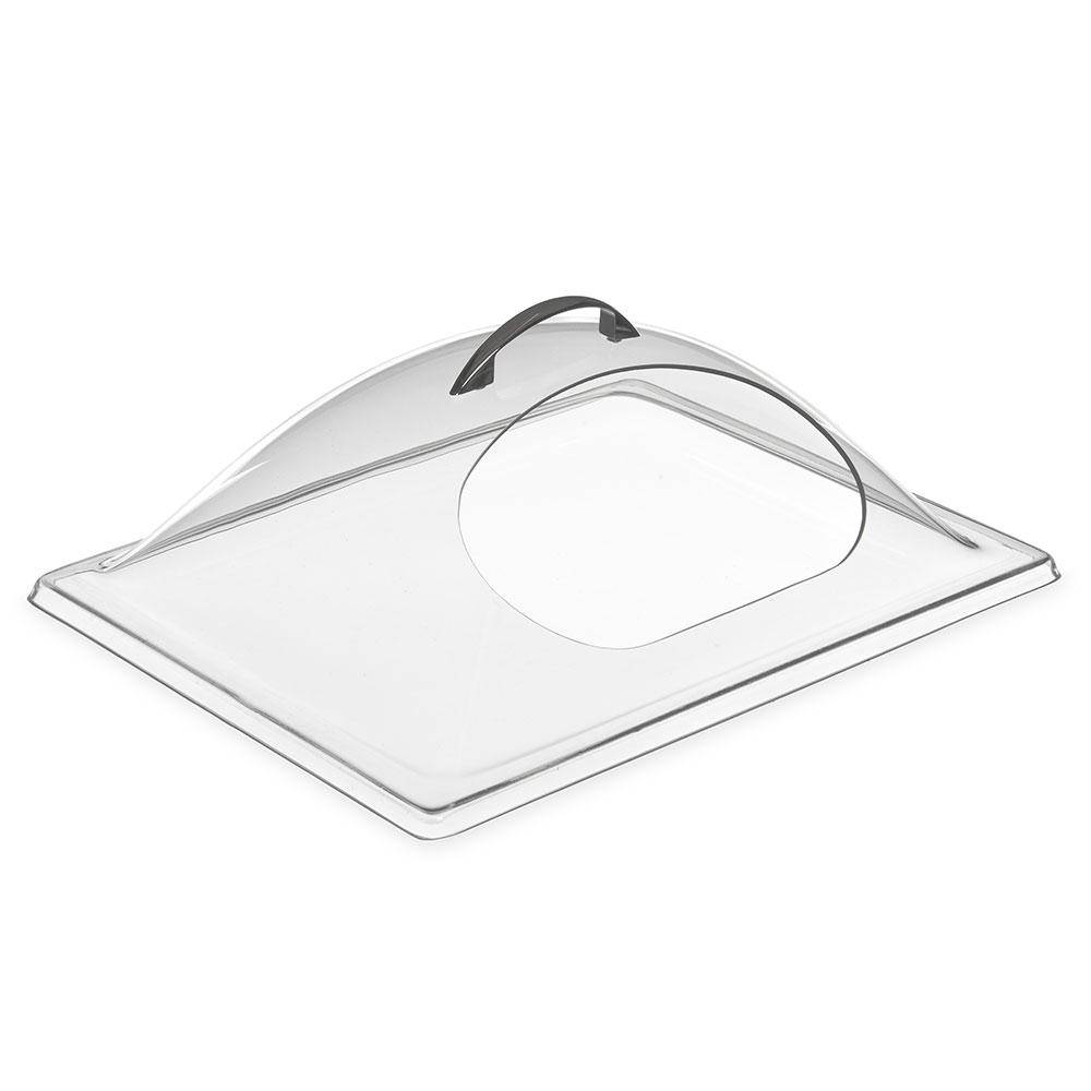 "Carlisle PSD13CH07 Rectangular Food Pan Display cover - 13"" x 10.75"", Polycarbonate, Clear"