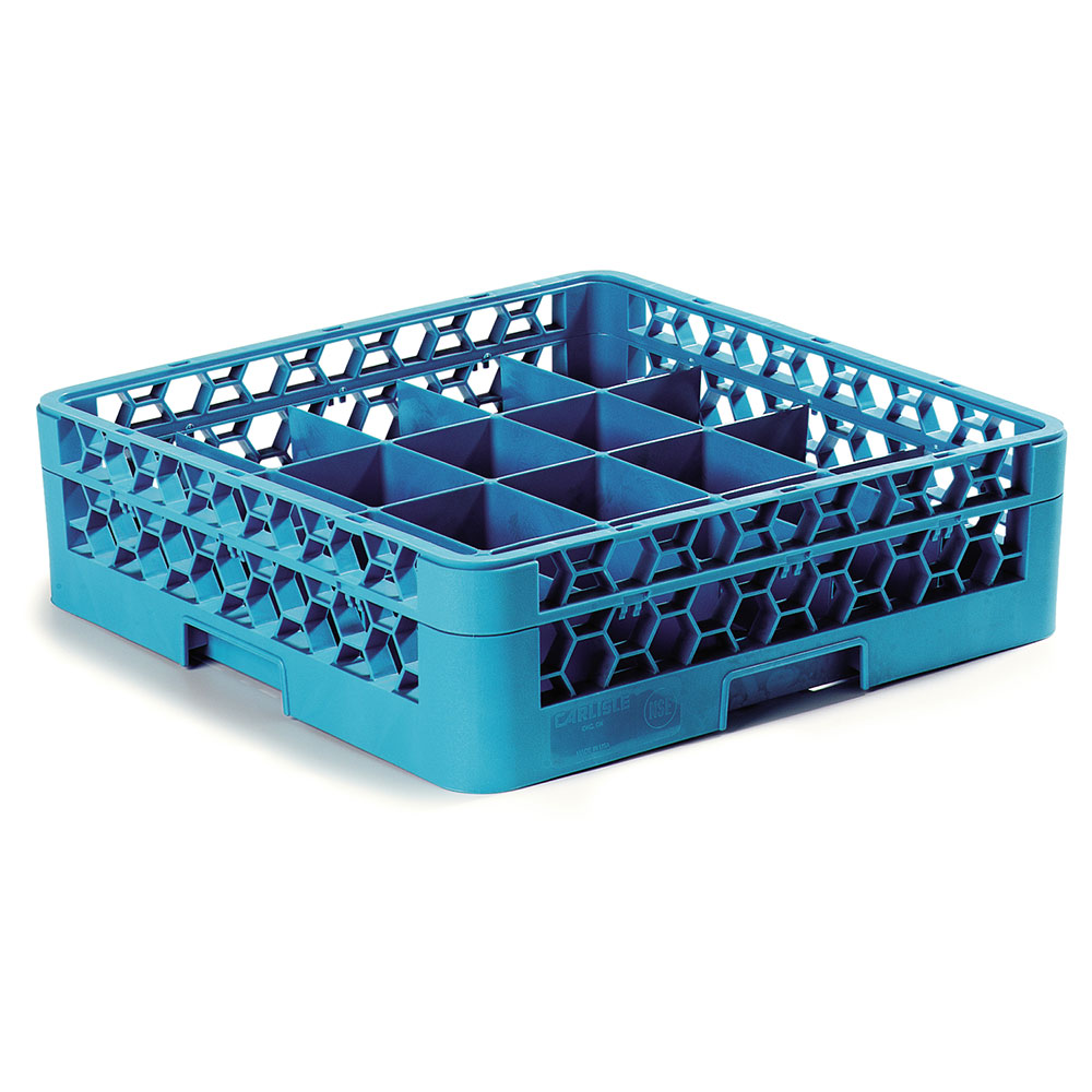 Carlisle RC20-114 Full-Size Dishwasher Cup Rack w/ (20) Compartments, Polypropylene, Blue