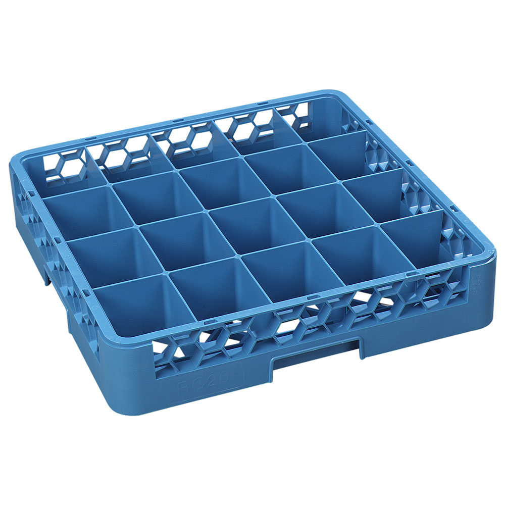 Carlisle RC2014 Full-Size Dishwasher Cup Rack - 20-Compartments, Blue
