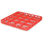 Carlisle RE16C24 Full-Size Color-Coded Glass Rack Extender w/ (16) Compartments, Orange