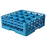 Carlisle RG16-214 Full-Size Dishwasher Glass Rack w/ (16) Compartments & (2) Extenders, Blue