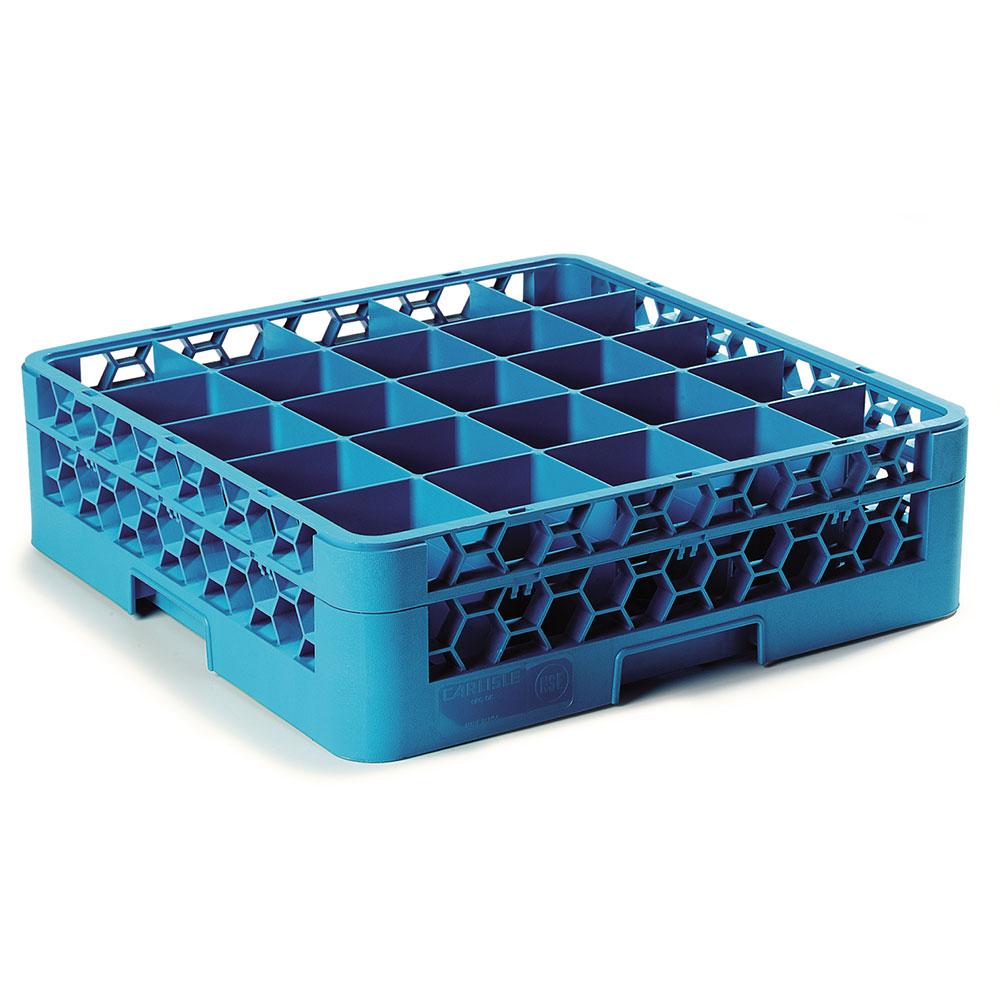 Carlisle RG25-114 Full-Size Dishwasher Glass Rack w/ (25) Compartments & Extender, Blue
