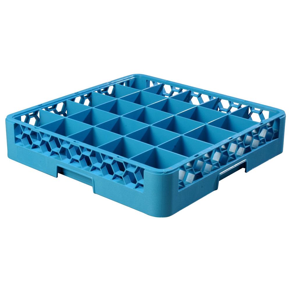 Carlisle RG2514 Full-Size Dishwasher Glass Rack w/ (25) Compartments, Blue