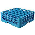 Carlisle RG25-214 Full-Size Dishwasher Glass Rack w/ (25) Compartments & (2) Extenders, Blue