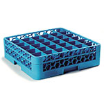 Carlisle RG36-114 Full-Size Dishwasher Glass Rack  w/ (36) Compartments & Extender, Blue