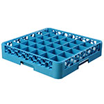 Carlisle RG3614 Full-Size Dishwasher Glass Rack w/ (36) Compartments, Blue