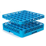 Carlisle RG36-214 Full-Size Dishwasher Glass Rack w/ (36) Compartments & (2) Extenders, Blue