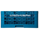 Carlisle RG9-314 Full-Size Dishwasher Glass Rack w/ (9) Compartments & (3) Extenders, Blue