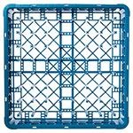 Carlisle RP14 Full-Size All Purpose Plate/Tray Peg Rack - Blue