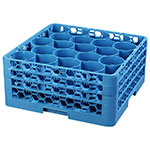 Carlisle RW20-214 Full-Size Dishwasher Glass Rack w/ (20) Compartments & (3) Extenders, Blue