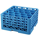 Carlisle RW20-314 Full-Size Dishwasher Glass Rack w/ (20) Compartments & (4) Extenders, Blue
