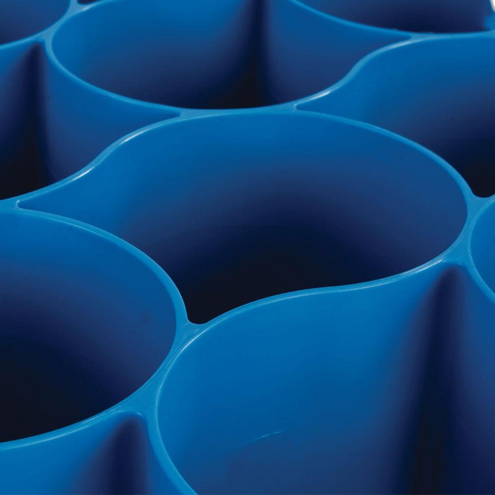 Carlisle RW30-314 Full-Size Dishwasher Glass Rack w/ (30) Compartments & (4) Extenders, Blue
