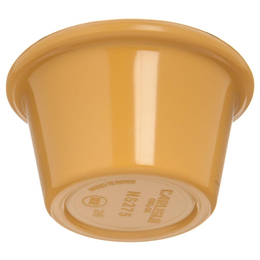 "Carlisle S27522 2.5"" Round Ramekin w/ 1.5-oz Capacity, Melamine, Honey Yellow"