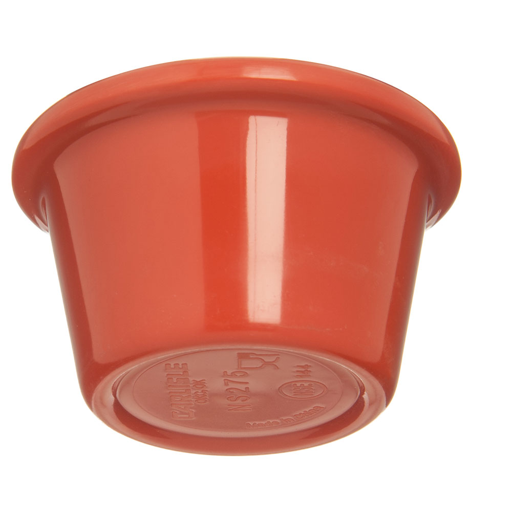 "Carlisle S27552 2.5"" Round Ramekin w/ 1.5-oz Capacity, Melamine, Sunset Orange"