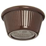 "Carlisle S27969 2.82"" Round Ramekin w/ 2-oz Capacity, Melamine, Chocolate"