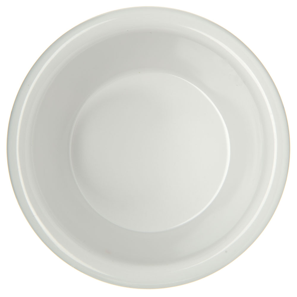 "Carlisle S28502 3.125"" Round Ramekin w/ 4-oz Capacity, Melamine, White"