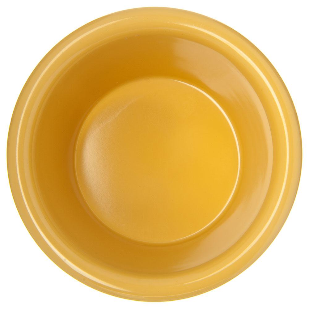 "Carlisle S28522 3.125"" Round Ramekin w/ 4-oz Capacity, Melamine, Honey Yellow"