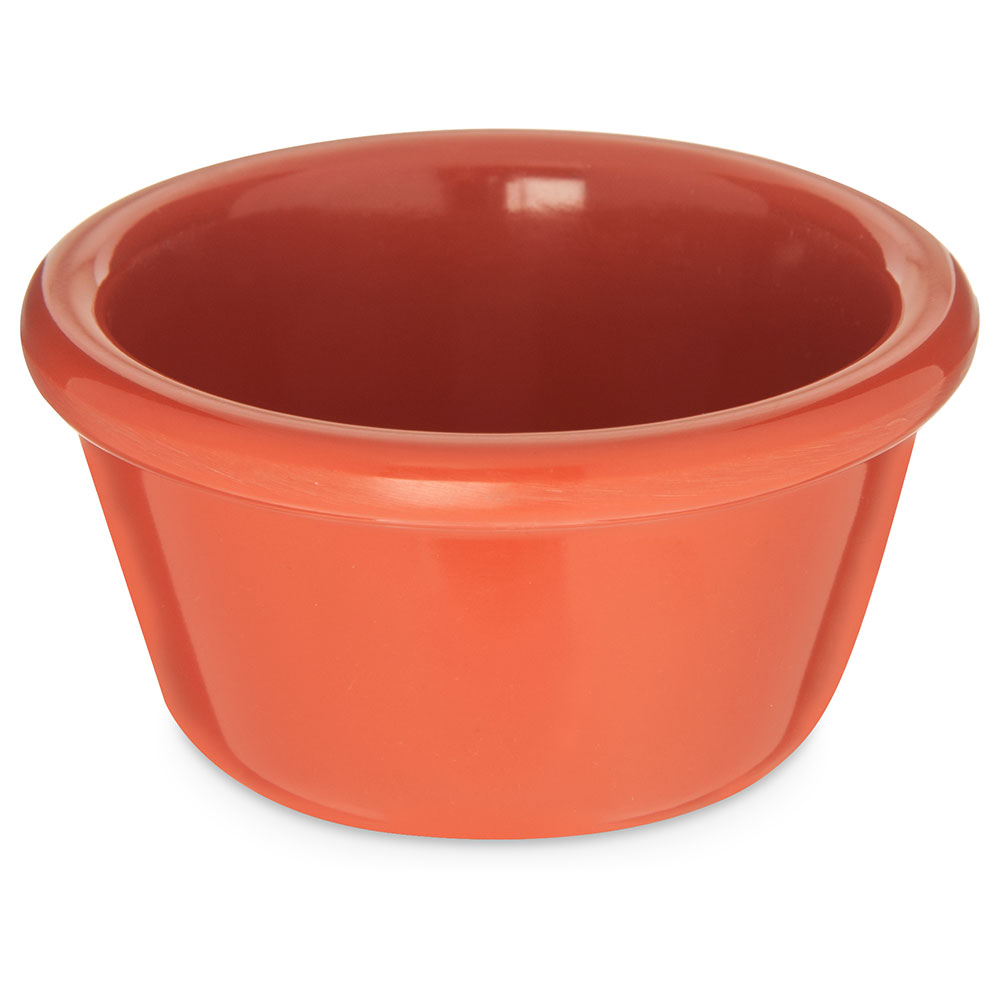 "Carlisle S28552 3.125"" Round Ramekin w/ 4-oz Capacity, Melamine, Sunset Orange"
