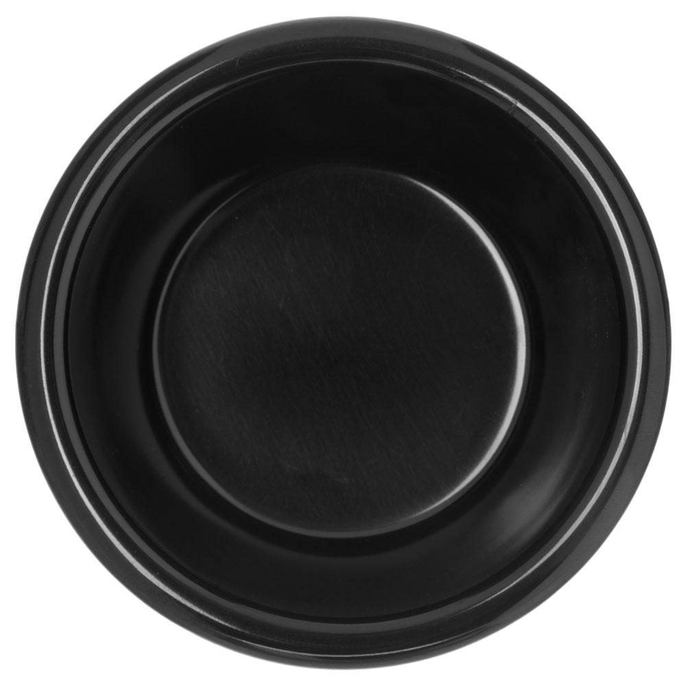 "Carlisle S28603 3.9"" Round Ramekin w/ 6-oz Capacity, Melamine, Black"