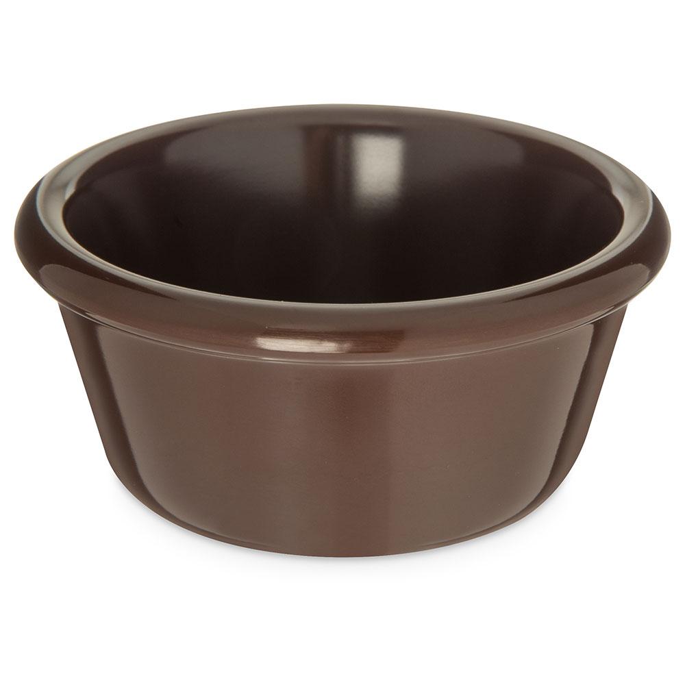 "Carlisle S28669 3.9"" Round Ramekin w/ 6-oz Capacity, Melamine, Chocolate"