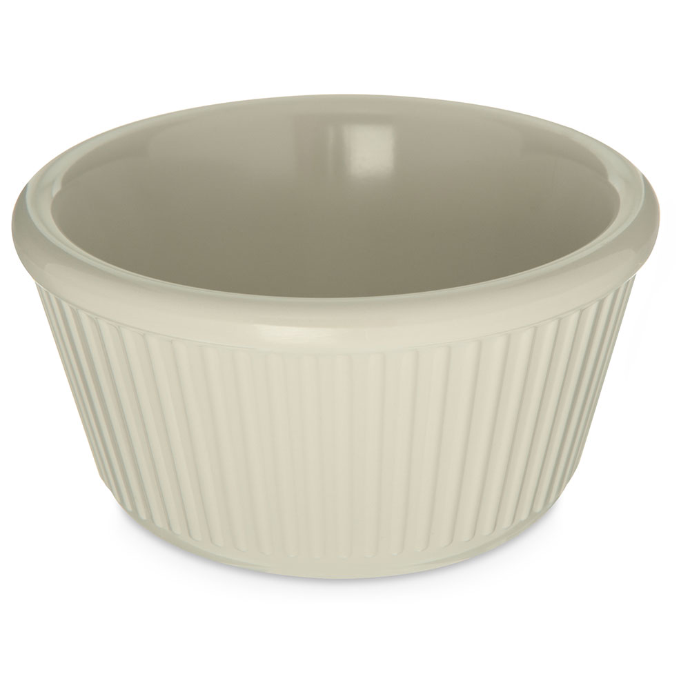 Carlisle S28742 Ramekin 4 Oz Bone Fluted Restaurant Supply