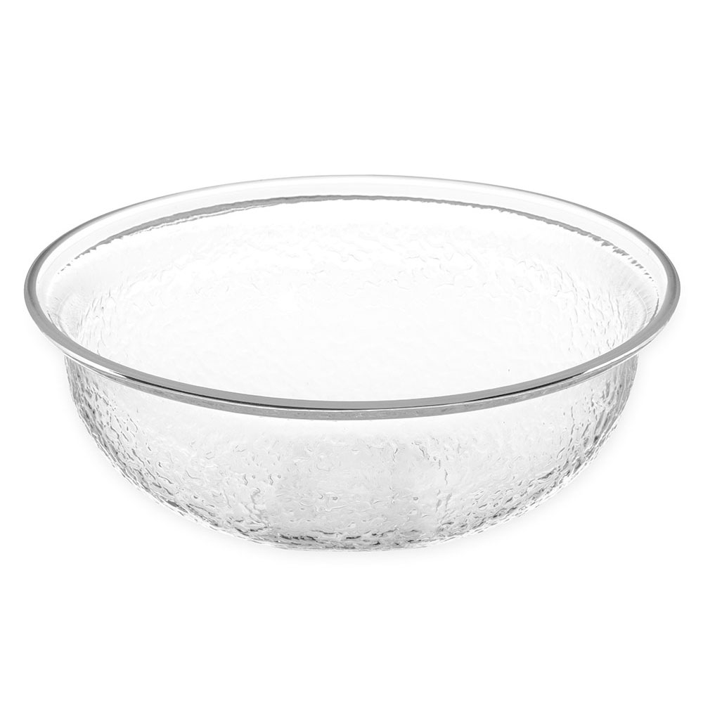 Carlisle SB7607 10-Quart Acrylic Pebbled Salad Bowl, Clear