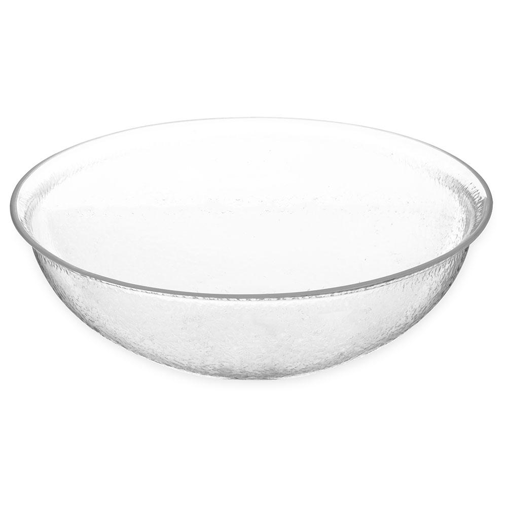 "Carlisle SB7407 14"" Round Salad Bowl w/ 7-qt Capacity, Acrylic, Clear"