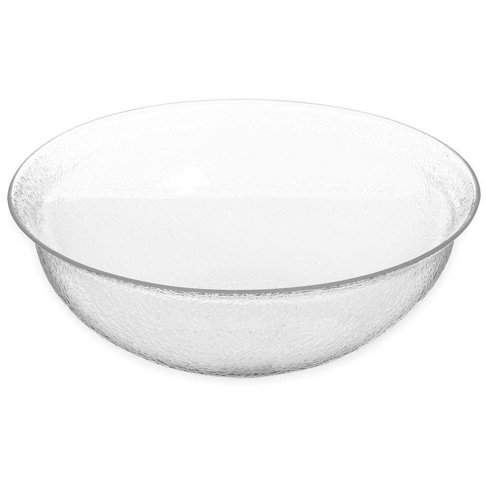 "Carlisle SB7607 16"" Round Salad Bowl w/ 10-qt Capacity, Acrylic, Clear"