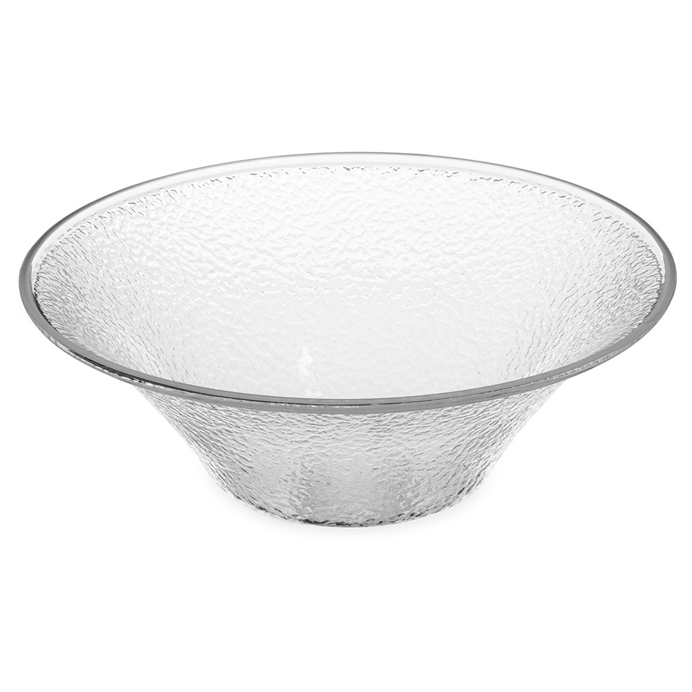 "Carlisle SB9007 11.25"" Round Serving Bowl w/ 3.3-qt Capacity, Acrylic, Clear"